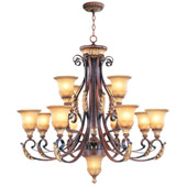 Traditional Villa Verona Twelve Light Chandelier - Livex Lighting 8559-63