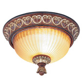 Traditional Villa Verona Flush Mount Ceiling Fixture - Livex Lighting 8562-63