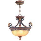 Traditional Villa Verona Semi-Flush Ceiling Fixture / Inverted Pendant - Livex Lighting 8565-63