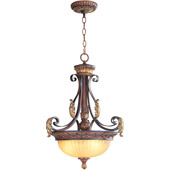 Traditional Villa Verona Inverted Pendant - Livex Lighting 8567-63