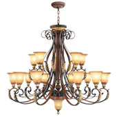 Traditional Villa Verona Fifteen Light Chandelier - Livex Lighting 8568-63