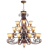 Traditional Villa Verona Twenty-Two Light Chandelier - Livex Lighting 8569-63