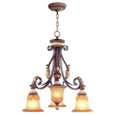 Traditional Villa Verona Three Light Chandelier - Livex Lighting 8573-63