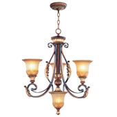 Traditional Villa Verona Three Light Chandelier - Livex Lighting 8574-63