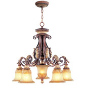 Traditional Villa Verona Five Light Chandelier - Livex Lighting 8575-63
