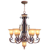 Traditional Villa Verona Six Light Chandelier - Livex Lighting 8576-63