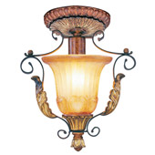 Traditional Villa Verona Semi-Flush Ceiling Fixture - Livex Lighting 8578-63
