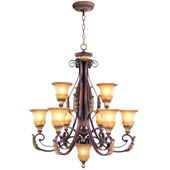 Traditional Villa Verona Nine Light Chandelier - Livex Lighting 8579-63
