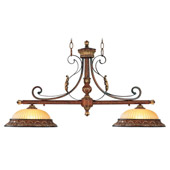 Traditional Villa Verona Island Light - Livex Lighting 8582-63