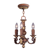 Traditional Villa Verona Convertible Mini Chandelier - Livex Lighting 8583-63