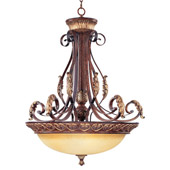 Traditional Villa Verona Inverted Pendant - Livex Lighting 8587-63