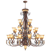 Traditional Villa Verona Twenty-Five Light Chandelier - Livex Lighting 8589-63