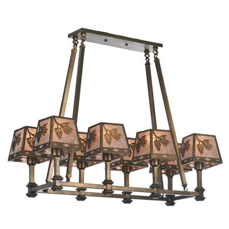 meyda 106652 balsam pine rectangular chandelier. Black Bedroom Furniture Sets. Home Design Ideas