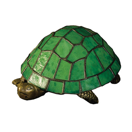 Meyda 10750 Turtle Tiffany Glass Accent Lamp
