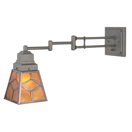 Meyda 108400 Amber Mica Diamond Swing Arm Wall Sconce: beautiful swing arm wall lamps and sconces