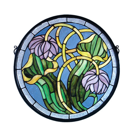Meyda 11093 Tiffany Pitcher Plant Medallion Stained Glass