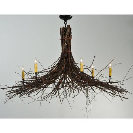Meyda 132514 twigs six light chandelier mozeypictures Images
