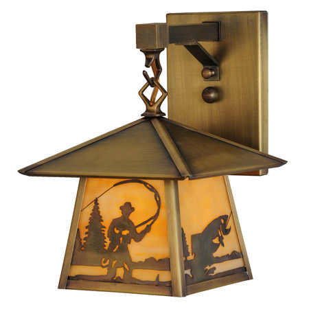 Meyda 144651 Stillwater Fly Fishing Creek Hanging Wall Sconce