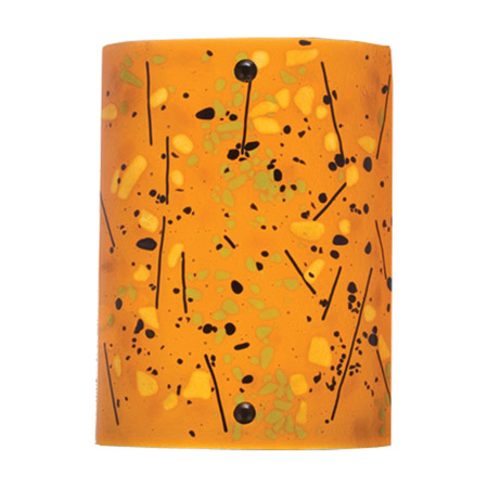 Fused Glass Wall Lamps : Meyda 21012 Biscotti Fused Glass Wall Sconce