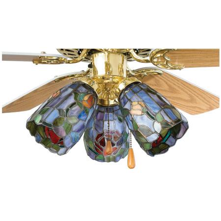 Meyda 27465 Tiffany Rosebush Fan Light Shade