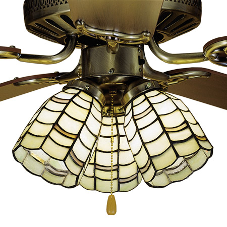 Meyda 27479 Tiffany Sea Scallop Fan Light Shade