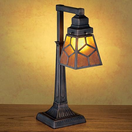Meyda 27881 Amber Mica Diamond Desk Lamp
