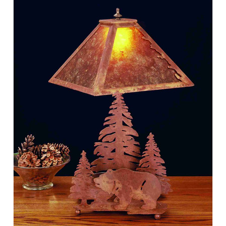 Meyda 32555 Pine Tree Mica Table Lamp