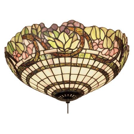 Meyda 47608 Tiffany Handel Grapevine Flush Mount Ceiling