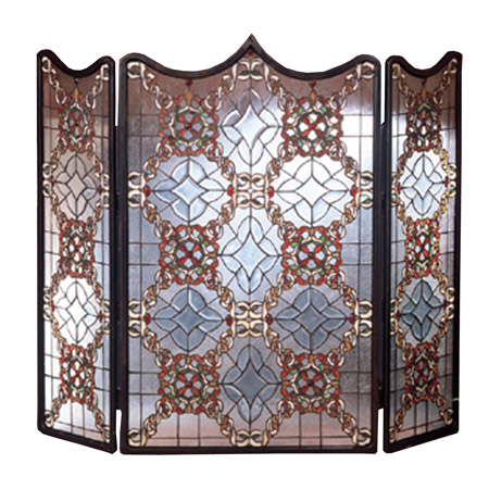 Meyda 48092 Tiffany Beveled Fireplace Screen