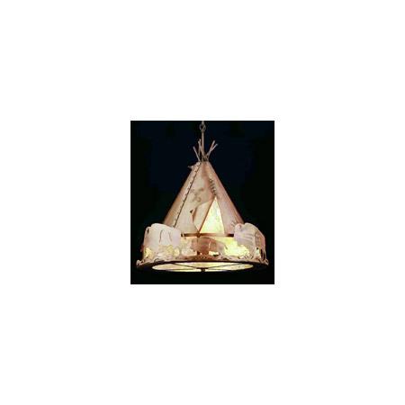 Meyda 50151 Teepee With Buffalo Pendant
