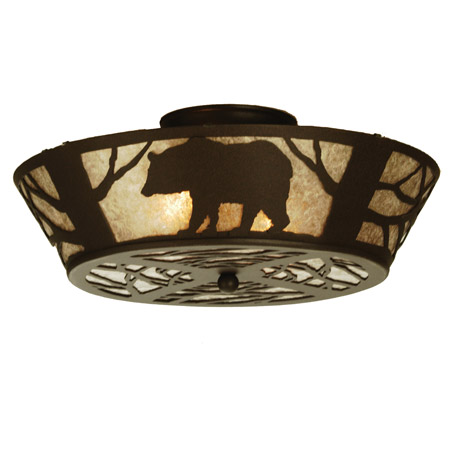 Meyda 51328 Bear On The Loose Flush Mount Ceiling Fixture