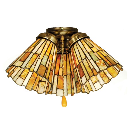 Meyda 65093 Tiffany Jadestone Delta Fan Light Shade
