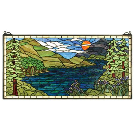 Meyda 65497 Tiffany Sunset Meadow Stained Glass Window