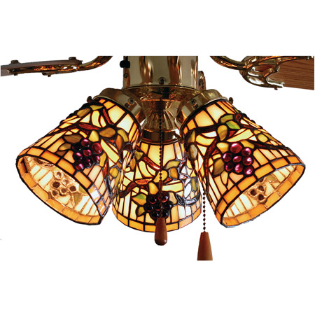 Meyda 67013 Tiffany Jeweled Grape Fan Light Shade