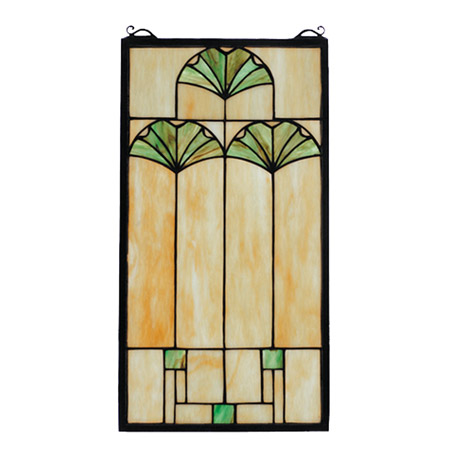 Meyda 67787 Tiffany Arts Amp Crafts Ginkgo Stained Glass Window