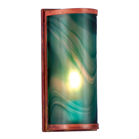 Meyda 70878 Cylinder Mente Swirl Fused Glass Wall Sconce