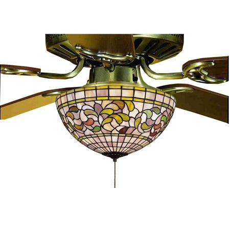 Meyda 72650 Tiffany Turning Leaf Fan Light Fixture