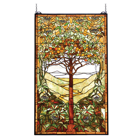 Meyda 74065 Tiffany Tree of Life Stained Glass Window