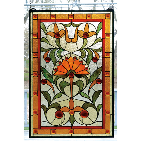 Meyda 98229 Tiffany Picadilly Stained Glass Window