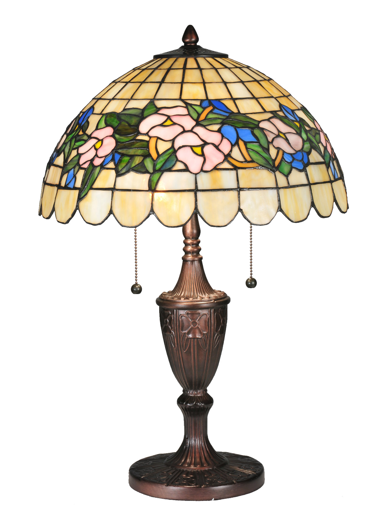meyda 106541 tiffany pansy table lamp. Black Bedroom Furniture Sets. Home Design Ideas