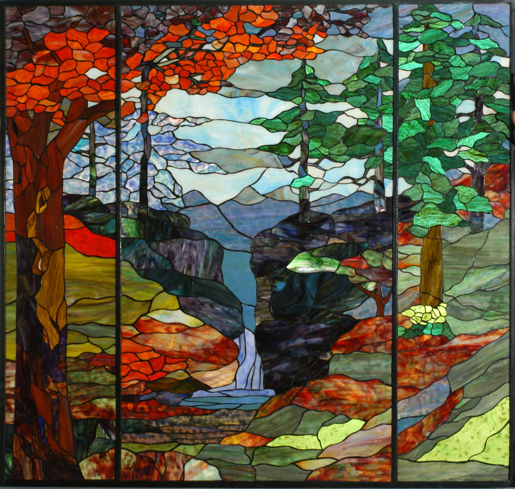 Tiffany Stained Glass : Meyda tiffany river of life stained glass window