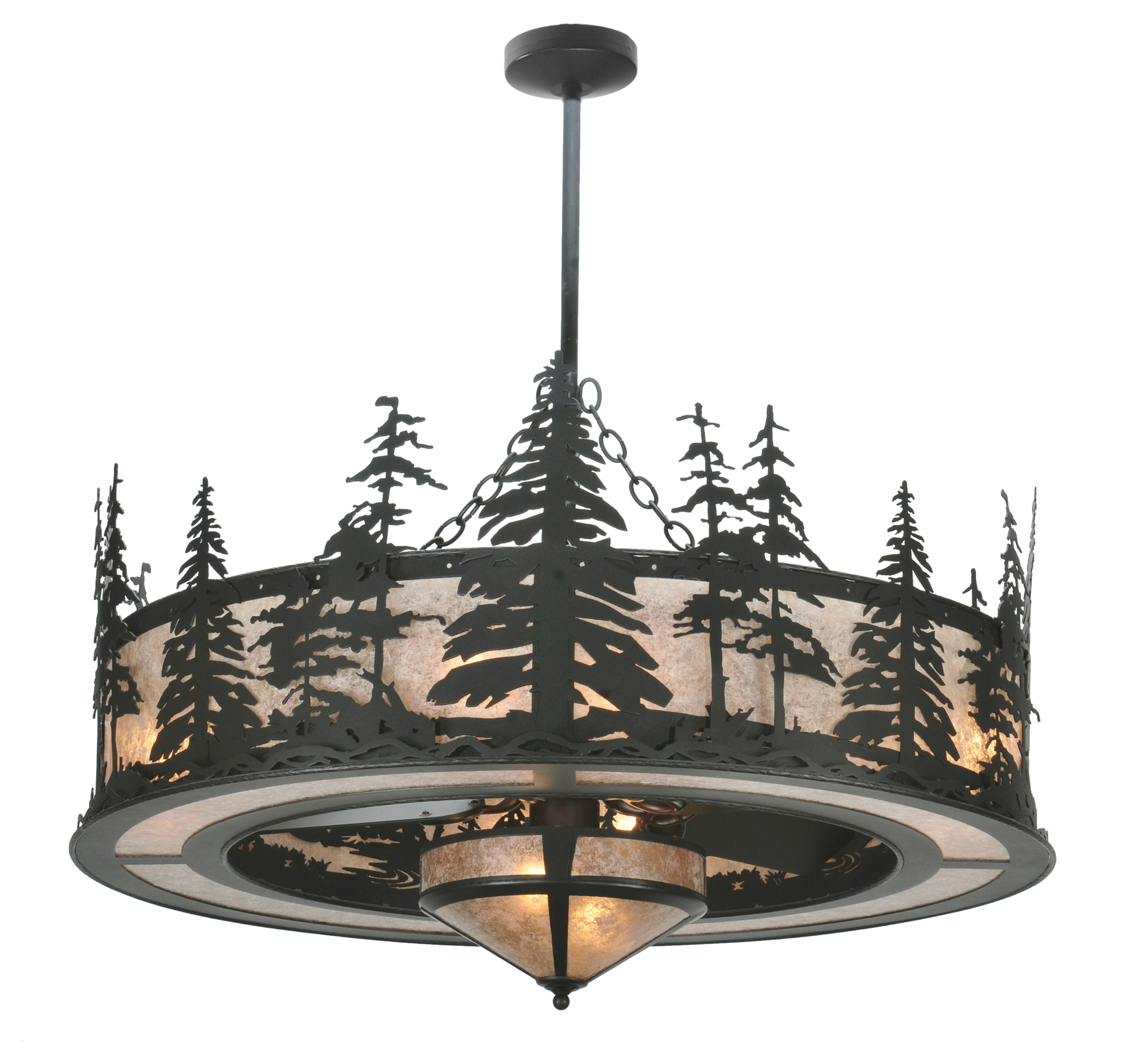 Meyda 108718 Tall Pines Chandel Air With Fan Light