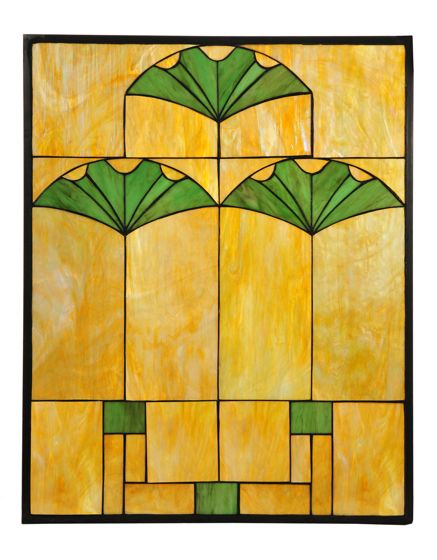 Meyda 108947 Tiffany Ginkgo Stained Glass Window