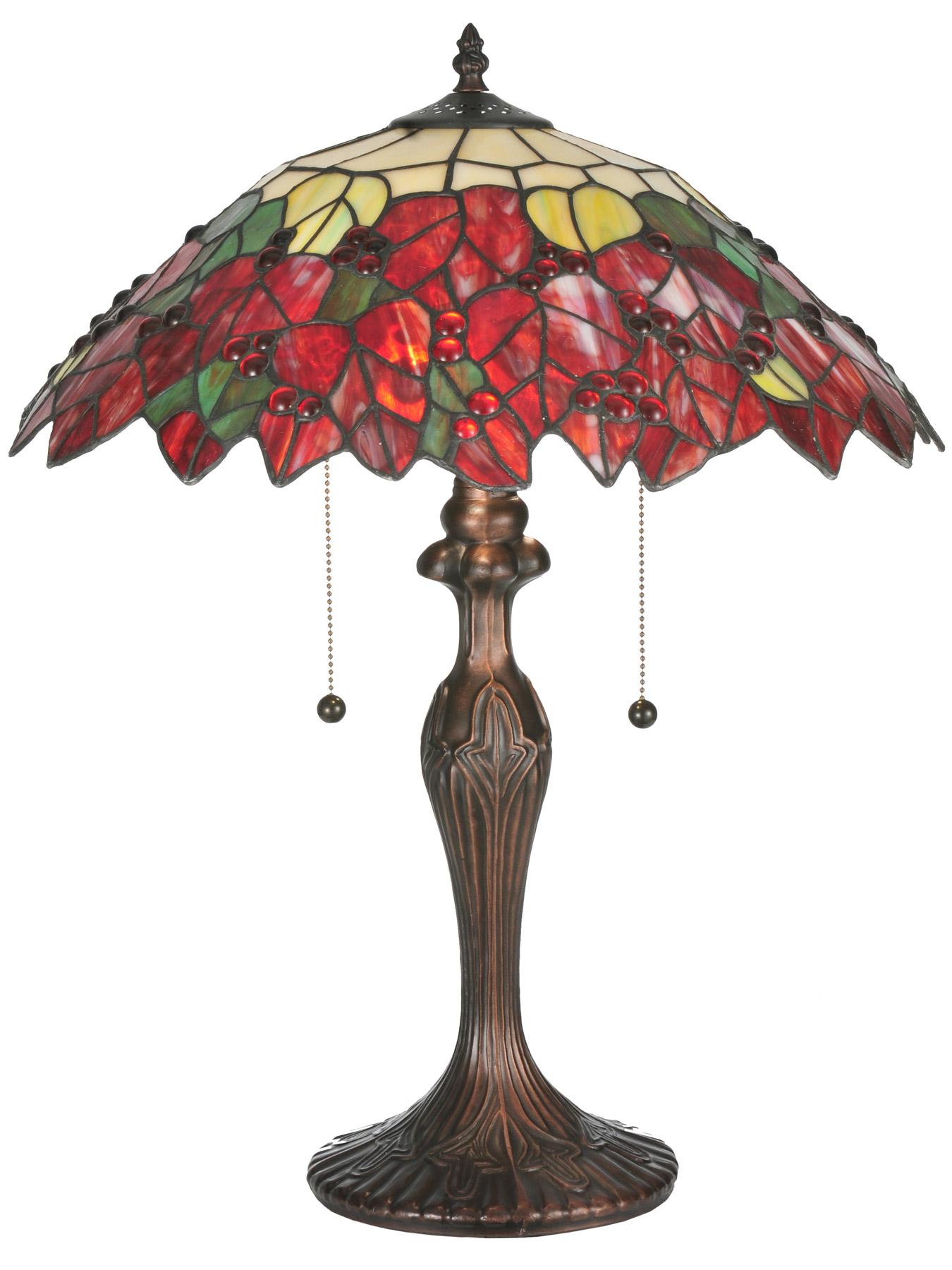 Meyda 112628 Tiffany Poinsettia Table Lamp