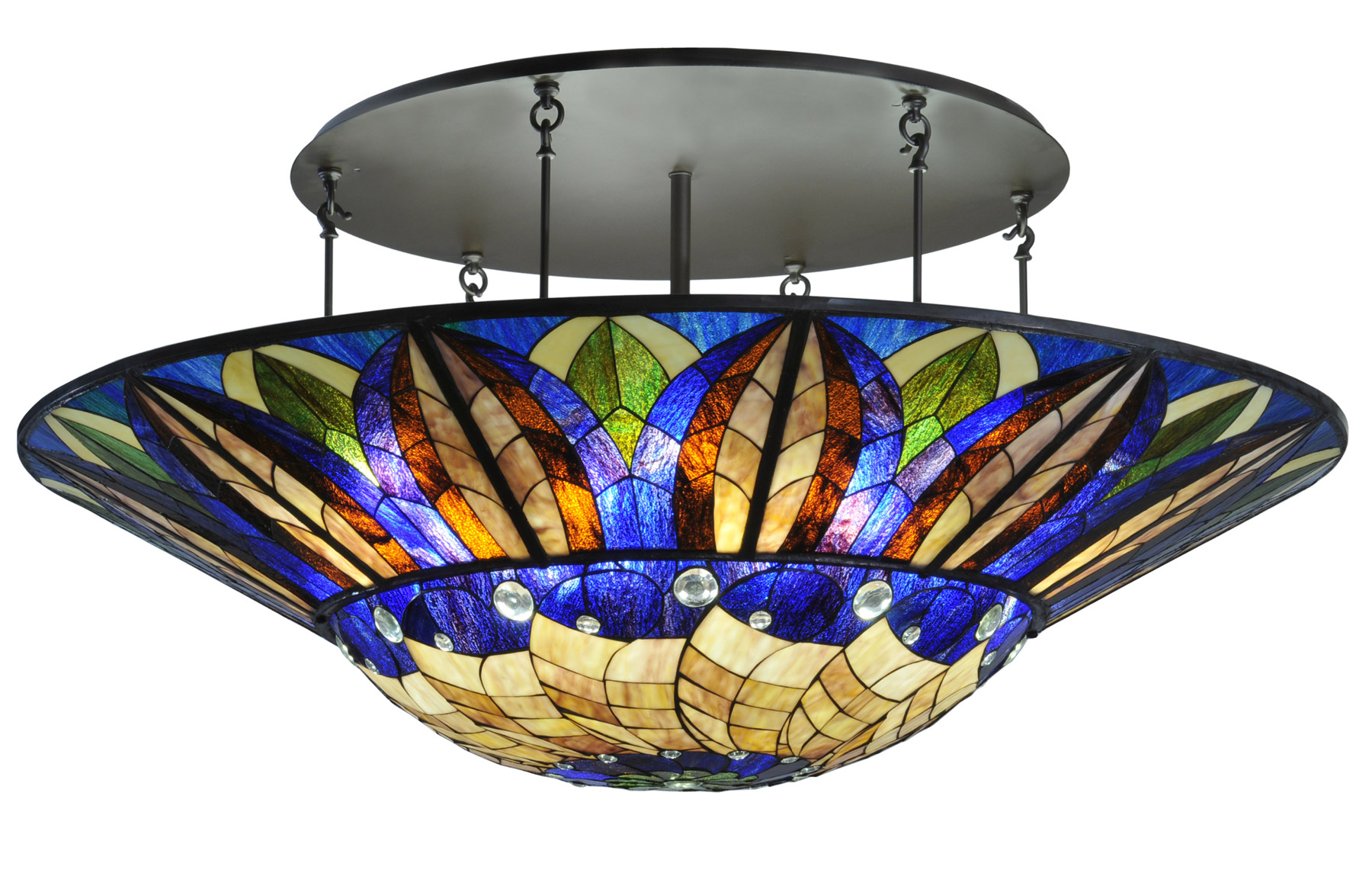 Meyda 115511 Tampa Bay Large Semi Flush Mount Ceiling Fixture