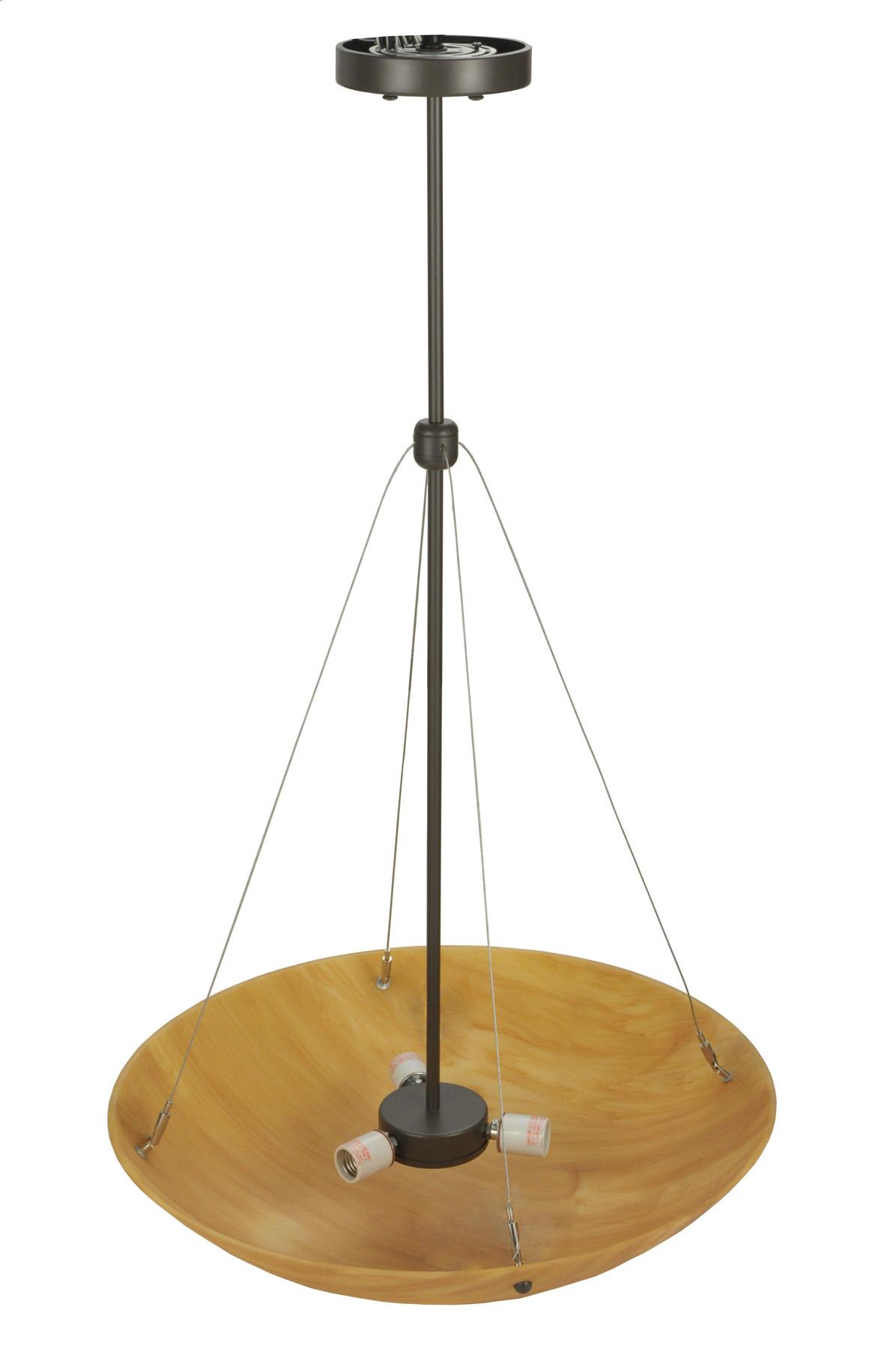 contemporary cypola 24 new mica inverted bowl pendant meyda 117684. Black Bedroom Furniture Sets. Home Design Ideas