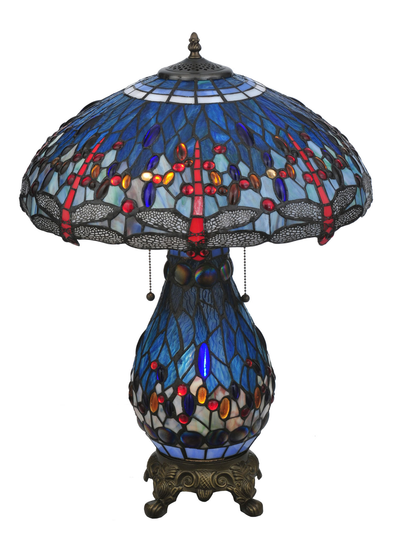 Meyda 118840 Hanginghead Dragonfly Table Lamp