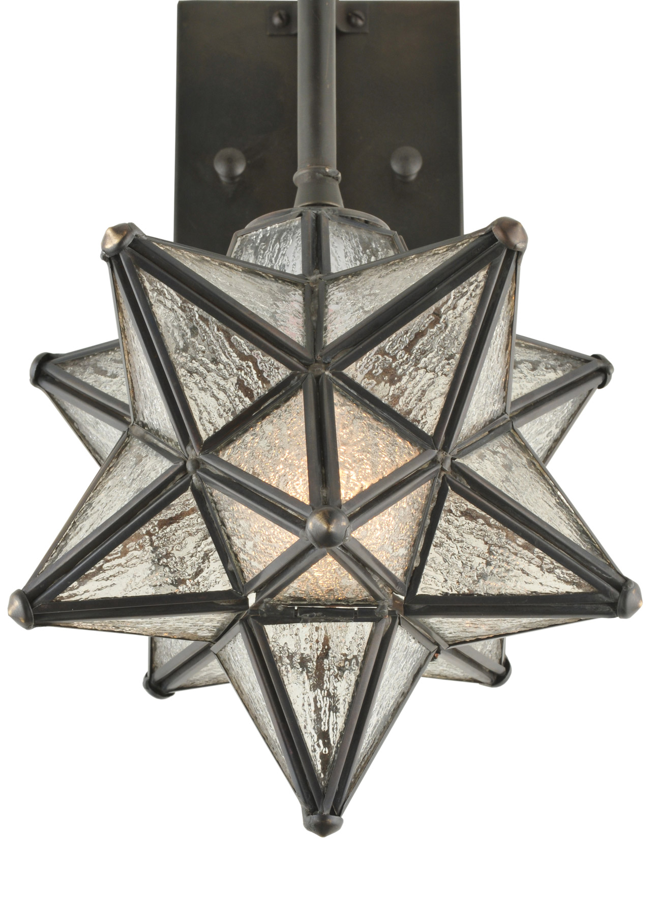 Wall Sconce With Star : Meyda 119794 Moravian Star Wall Sconce
