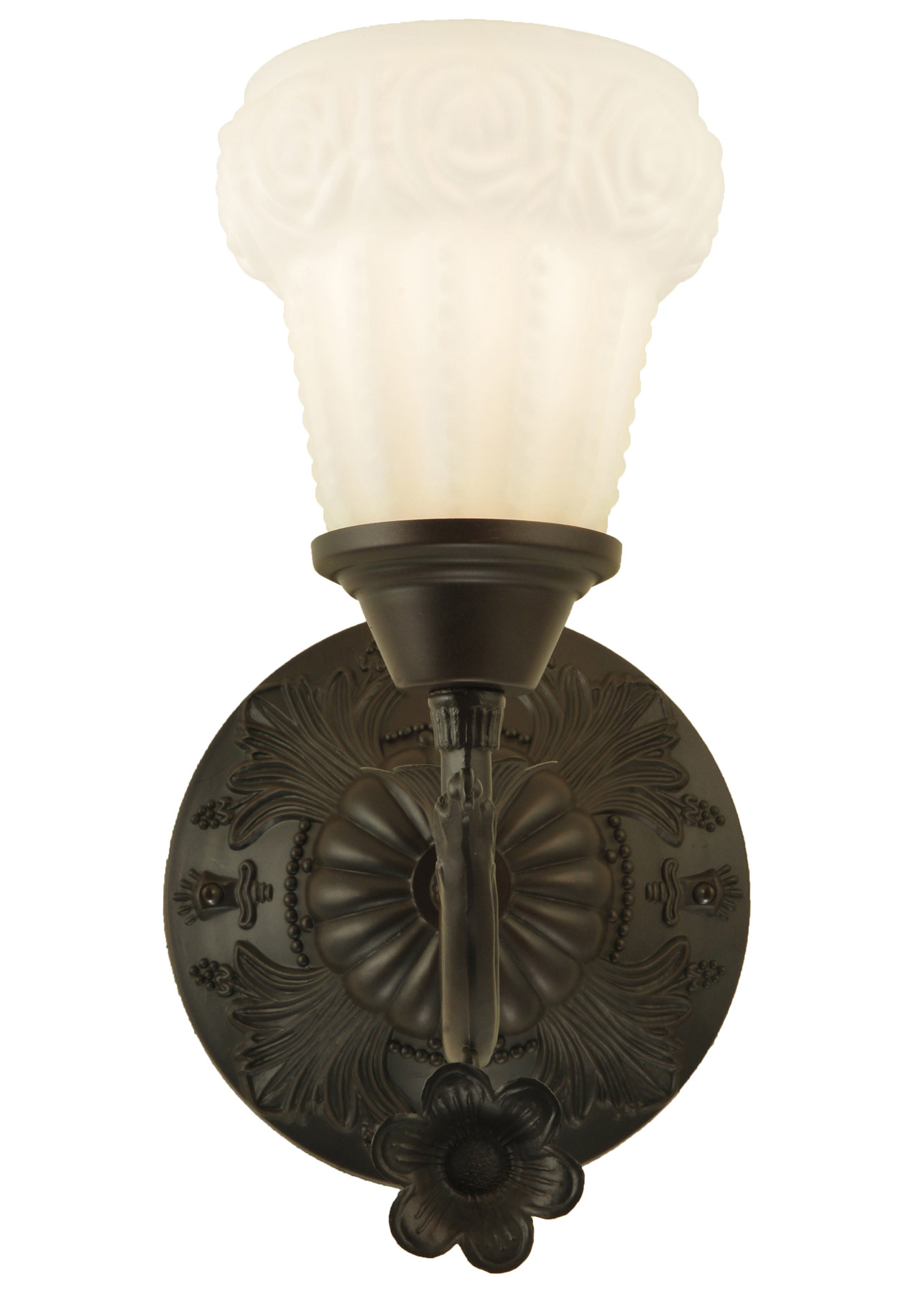 Meyda 126018 White Puffy Rose Wall Sconce