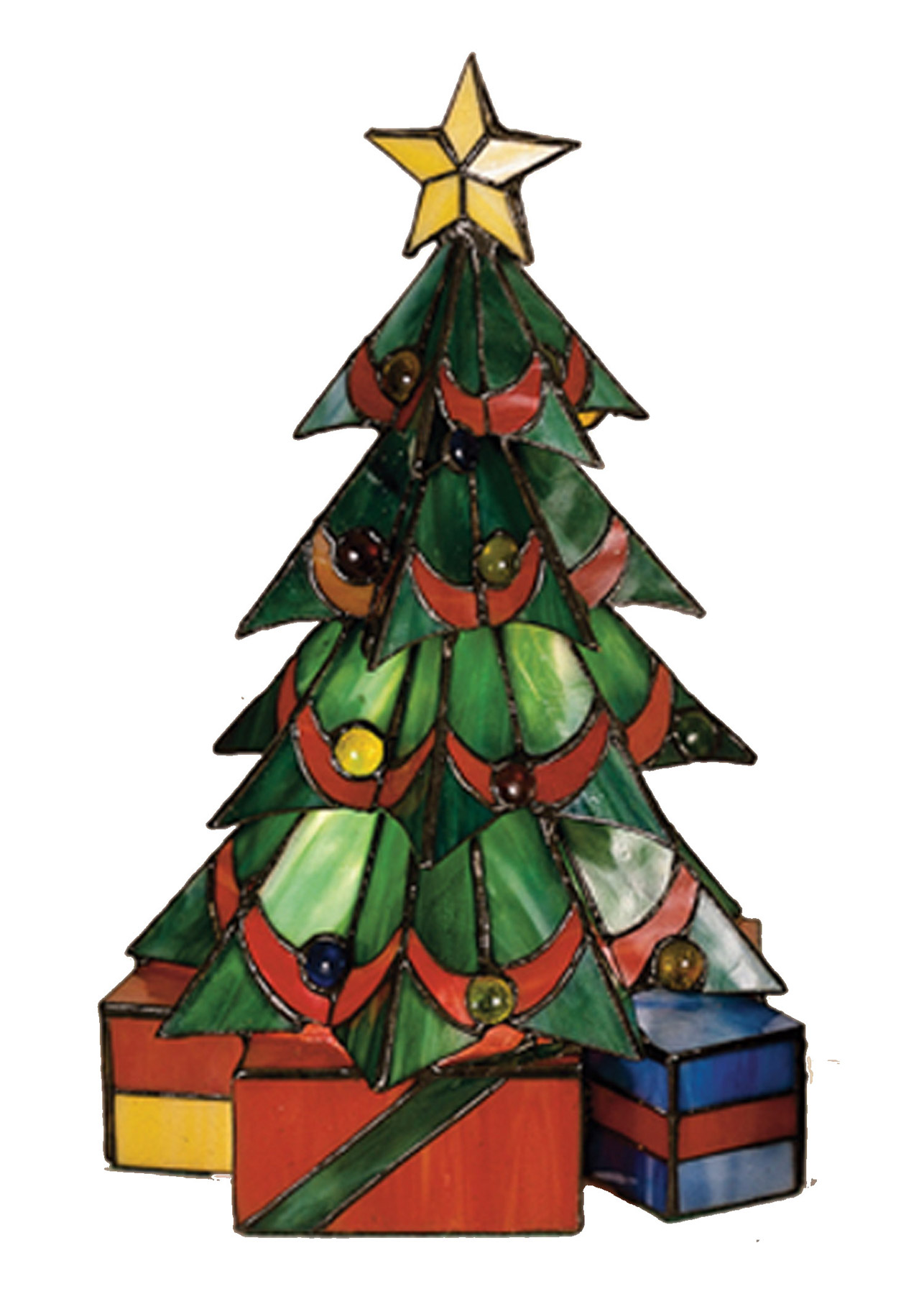 Meyda 12961 Tiffany Christmas Tree Accent Lamp